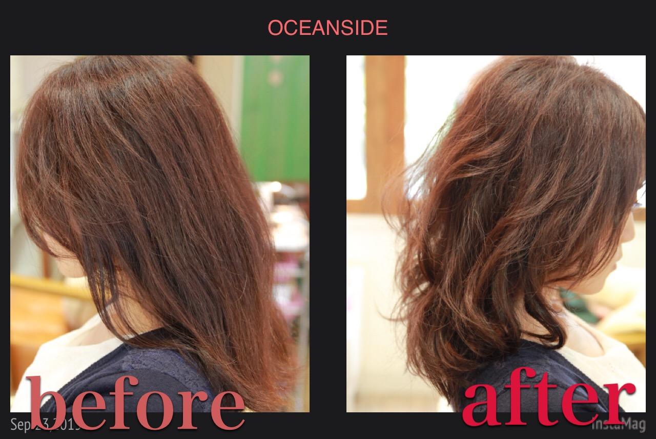くせ毛を活かすカット ヘアスタイル 髪型