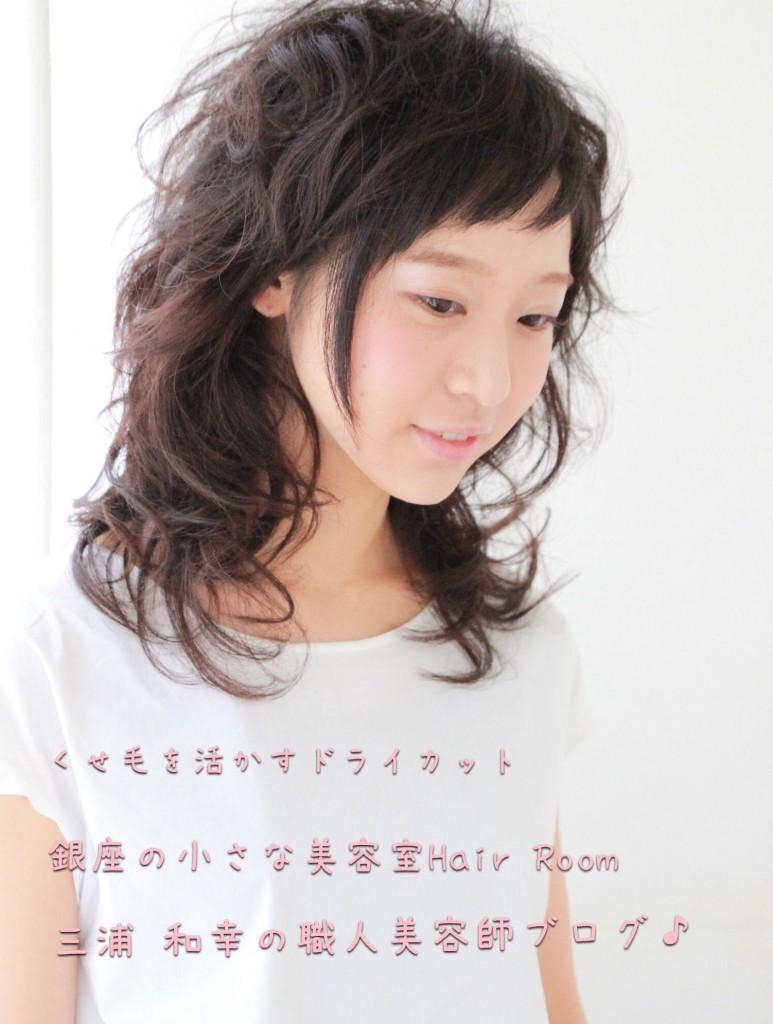【くせ毛を活かす】【脱縮毛矯正】【梳かない】ドライカットが上手で得意。東京銀座の小さな美容室美容院Hair Roomヘアルーム  三浦 和幸のブログ