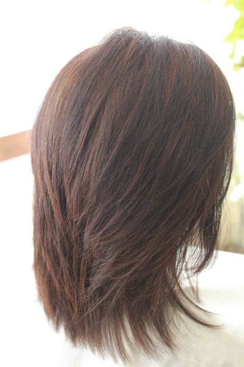くせ毛カラー