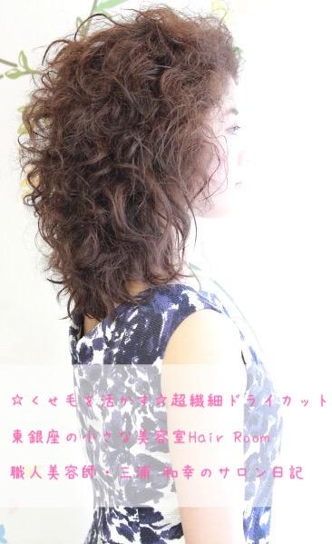 【くせ毛を活かす】繊細なドライカットが上手で得意。東京銀座の小さな美容室美容院Hair Roomヘアルーム  三浦 和幸のブログ