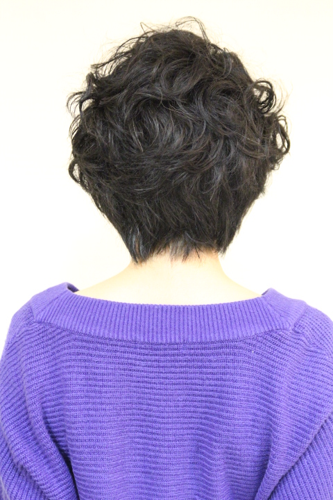 くせ毛ショート