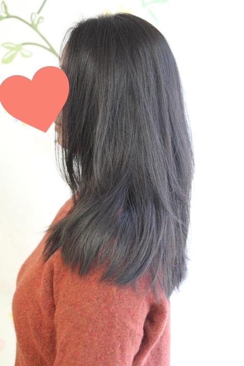 くせ毛ロングヘア
